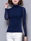 Χαμηλού Κόστους Βραδινά Φορέματα-Γυναικεία Μονόχρωμο Μακρυμάνικο Πουλόβερ Πουλόβερ Jumper, Ζιβάγκο Φθινόπωρο / Χειμώνας Μαύρο / Κρασί / Λευκό M / L / XL