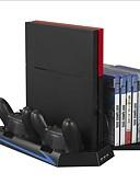baratos Acessórios para Samsung-Playstation 4 suporte vertical para ps4 dual carregador multi-função de refrigeração ventilador dual carregador kits para ps4