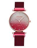 ราคาถูก นาฬิกาควอตซ์-ZHHA สำหรับผู้หญิง นาฬิกาควอตส์ นาฬิกาอิเล็กทรอนิกส์ (Quartz) สไตล์ สแตนเลส ดำ / ฟ้า / เงิน 30 m สีกลมกลืน ระบบอนาล็อก ไม่เป็นทางการ - สีดำ ทองกุหลาบ สีม่วง หนึ่งปี อายุการใช้งานแบตเตอรี่