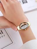 baratos Relógios de quartzo-Mulheres Relógio Elegante Quartzo Relógio Casual Analógico Clássico - Preto Dourado Prata
