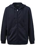billige Skjorter-Herre Fritid / Grunnleggende Hattetrøje Ensfarget