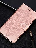 baratos Capinhas para Xiaomi-Caso para xiaomi xiaomi a2 lite em relevo / flip / com suporte de casos de corpo inteiro flor de couro duro pu para redmi nota 7 / redmi ir / xiaomi a2 / redmi 7