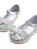 povoljno Džemperi i kardigani za djevojčice-Djevojčice Udobne cipele / Sitni pete za mlade Sintetika Cipele na petu Mala djeca (4-7s) / Velika djeca (7 godina +) Kristal / Mašnica Srebro / Plava / Pink Proljeće