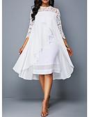 Χαμηλού Κόστους Φορέματα κοκτέιλ-Γραμμή Α Με Κόσμημα Ασύμμετρο Σιφόν / Δαντέλα Κομψό Κοκτέιλ Πάρτι / Αργίες Φόρεμα 2020 με Διακοσμητικά Επιράμματα