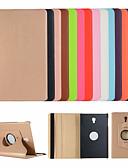 billige Samsung Case-Etui Til Samsung Galaxy Tab A2 10.5 (2018) T595 T590 / Tab S2 9.7 / Tab S2 8.0 med stativ / Flipp Heldekkende etui Ensfarget Hard PU Leather