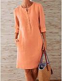 Χαμηλού Κόστους Γυναικεία Φορέματα-Γυναικεία Σε γραμμή Α Φόρεμα - Μονόχρωμο Ως το Γόνατο