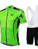 Χαμηλού Κόστους Αξεσουάρ MacBook-FUALRNY® Ανδρικά Κοντομάνικο Αθλητική φανέλα και σορτς ποδηλασίας Πράσινη Μέντα Μεταλλικό Πράσινο Πράσινο Ποδήλατο Ρούχα σύνολα Αναπνέει Ύγρανση Γρήγορο Στέγνωμα Αθλητισμός Γεωμετρία / Ελαστικό