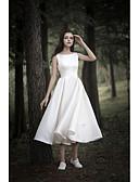 billiga Brudklänningar-A-linje Prydd med juveler Telång Chiffon på satin Remmar Sexig Bröllopsklänningar tillverkade med 2020