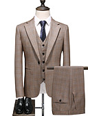 Χαμηλού Κόστους Κοστούμια-Χακί Περιπετειώδης Τυπική εφαρμογή Πολυεστέρας Κοστούμι - Εγκοπή Μονόπετο Ενός Κουμπιού / Στολές