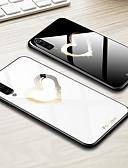 זול מגנים לטלפון-מגן עבור Samsung Galaxy Galaxy A7(2018) / Galaxy A10 (2019) / Galaxy A30 (2019) עמיד בזעזועים / תבנית כיסוי אחורי לב / פרח / צבע הדרגתי קשיח TPU / זכוכית משוריינת