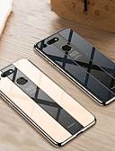 baratos Capinhas para Huawei-Capinha Para Huawei Huawei Nova 3i / Huawei Honor 10 / Honra 10 Lite Galvanizado Capa traseira Sólido Rígida Vidro Temperado
