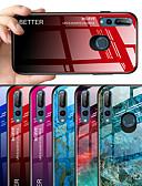 baratos Capinhas para Huawei-Capinha Para Huawei Huawei Y9 2019 (Enjoy 9 Plus) / Huawei Y6 Pro (2019) / Huawei Y6 (2019) Estampada Capa traseira Mármore / Cores Gradiente Rígida Vidro Temperado