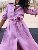 baratos Vestidos Longos-Mulheres Básico Bainha Vestido Sólido Longo
