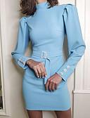 olcso Női ruhák-Női Vékony Hüvely Ruha Egyszínű Mini Terített nyak