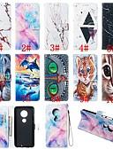 baratos Cases & Capas-Capinha Para Motorola Moto G7 / Moto G7 Plus / Moto G7 Play Carteira / Porta-Cartão / Com Suporte Capa Proteção Completa Animal / Mármore Rígida PU Leather