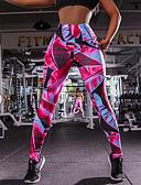 olcso Leggingek-Női Sport Alap Legging - Mértani, Nyomtatott Közepes csípő Fukszia S M L / Vékony