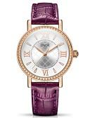 baratos Relógios-Mulheres Relógio Esportivo Quartzo Couro Impermeável Analógico Casual - Branco Roxo Vermelho