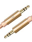 Χαμηλού Κόστους Καλώδια κινητού τηλεφώνου-D8 PSC-0331 1 Βύσμα ήχου 3.5mm Ήχος 3.5mm Θηλυκό - Θηλυκό 1080P 1.0 Gbps 1m-1.99m / 3ft-6ft