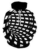 olcso Férfi pólók és pulóverek-Férfi Alkalmi Kapucnis felsőrész 3D