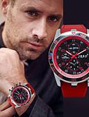 ราคาถูก นาฬิกาสวมใส่เข้าชุด-สำหรับผู้ชาย นาฬิกาแนวสปอร์ต นาฬิกาอิเล็กทรอนิกส์ (Quartz) รูปแบบชุดเป็นทางการ สไตล์ ยางทำจากซิลิคอน ดำ / สีขาว / แดง โครโนกราฟ Creative ดีไซน์มาใหม่ ระบบอนาล็อก วิบวับ ไม่เป็นทางการ -  / สองปี