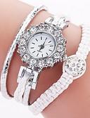 זול שעונים-בגדי ריקוד נשים שעון שרשרת קווארץ עור אמיתי שעונים יום יומיים אנלוגי אופנתי - אדום ירוק ורוד