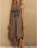 Χαμηλού Κόστους Γυναικεία Φορέματα-Γυναικεία Γραμμή Α Φόρεμα - Μονόχρωμο Μακρύ