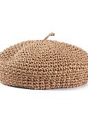 זול אביזרים-קש כובעים עם מוצק חלק 1 קזו'אל / לבוש יומיומי כיסוי ראש