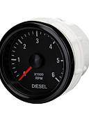 baratos Carregadores Rápidos-Calibre elétrico do tacômetro de 52mm 0-6000 RPM (no traço) para o motor diesel do motor