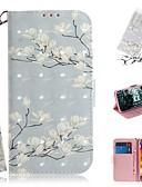 billige iPhone-etuier-etui til lg v40 tynn / lg stylo 5 / lg g8 tynn lommebok / kortholder / støtsikker helkroppskasser magnolia blomst pu skinn