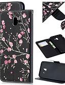 baratos Cases & Capas-Capinha Para Samsung Galaxy J8 (2018) / J7 (2017) / J6 (2018) Carteira / Porta-Cartão / Antichoque Capa Proteção Completa Flor PU Leather