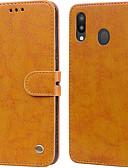 ราคาถูก เคสสำหรับโทรศัพท์มือถือ-Case สำหรับ Samsung Galaxy Galaxy M20(2019) Card Holder / Flip ตัวกระเป๋าเต็ม สีพื้น Hard หนัง PU