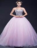 ราคาถูก Special Occasion Dresses-บอลกาวน์ ไร้สาย ชายกระโปรงลากพื้น Tulle สไตล์วินเทจ ทางการ แต่งตัว กับ โดย LAN TING Express
