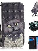 baratos Cases & Capas-Capinha Para Samsung Galaxy S9 / S9 Plus / S8 Plus Carteira / Porta-Cartão / Antichoque Capa Proteção Completa Gato PU Leather