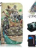 baratos Capinhas para iPhone-Capinha Para Asus ASUS Zenfone max M1 ZB555KL Carteira / Porta-Cartão / Com Suporte Capa Proteção Completa Animal / Desenhos 3D PU Leather