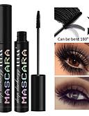 billige Maskaraer-4 d lang mascara for å skape en tykk curling eyelash silikon hodet holdbar vanntett øye sminke