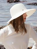 זול אביזרים-פּוֹלִיאֶסטֶר כובעי קש עם ריינסטון 1pc קזו'אל / לבוש יומיומי כיסוי ראש