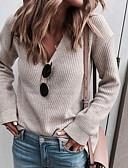 povoljno Ženski džemperi-Žene Jednobojni Dugih rukava Kardigan, V izrez Crn / Blushing Pink / Žutomrk L / XL / XXL