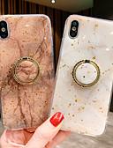 baratos Capinhas para iPhone-Capinha Para Apple iPhone XS / iPhone XR / iPhone XS Max Magnética Capa traseira Mármore TPU