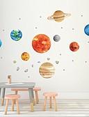 זול מגנים לאייפון-תשעה קירות פלנטרית עם דבק מדבקות דבק גרפיטי עבור קירות כוכבי הלכת של בתי ילדים יצירתיים מדבקות קיר דקורטיביים - מדבקות קיר מדף בעלי חיים חדר ילדים / משתלה