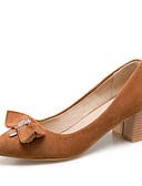 ราคาถูก ถุงเท้าและชุดชั้นใน-สำหรับผู้หญิง รองเท้าส้นสูง ส้นหนา Pointed Toe ปมผ้า / หมุดย้ำ / หินประกาย PU / Synthetics วินเทจ / minimalism ฤดูร้อนฤดูใบไม้ผลิ สีเหลือง / แดง / สีชมพู / พรรคและเย็น