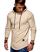 olcso Férfi pólók és pulóverek-Férfi Alkalmi Vékony Kapucnis felsőrész Egyszínű Kapucni