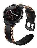 ราคาถูก วง Smartwatch-สายนาฬิกา สำหรับ Huami Amazfit A1602 / นาฬิกา Huami Amazfit Pace / Huami Amazfit Stratos Smart Watch 2/2S Xiaomi สายยางสำหรับเส้นกีฬา / หัวกลัดแบบคลาสสิก หนังแท้ สายห้อยข้อมือ