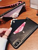baratos Capinhas para iPhone-Capinha Para Apple iPhone XS / iPhone XR / iPhone XS Max Carteira / Anti-poeira / Estampada Capa traseira Desenho Animado PU Leather / TPU