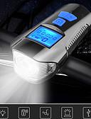 baratos Vestidos Plus Size-LED Luzes de Bicicleta Luz Frontal para Bicicleta Lanterna com Buzina para Bicicleta Velocímetro Moto Ciclismo Impermeável 3 em 1 Múltiplos Modos Indução inteligente 350 lm Recarregável USB Branco