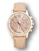 baratos Relógios Vestido-Relógio Elegante Couro Analógico Branco-creme / Aço Inoxidável