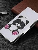 baratos Capinhas para Xiaomi-Capinha Para Xiaomi Xiaomi Redmi 6 Pro / Xiaomi Redmi Note 7 / Xiaomi Redmi 7 Carteira / Porta-Cartão / Com Suporte Capa Proteção Completa Panda Rígida PU Leather