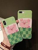 baratos Capinhas para iPhone-Capinha Para Apple iPhone XS / iPhone XR / iPhone XS Max Antichoque / Estampada Capa traseira Animal / Desenho Animado TPU