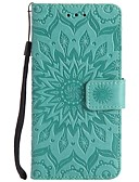 billige iPhone-etuier-Etui Til LG LG K10 / LG K8 / LG K7 Støtsikker Heldekkende etui Blomsternål i krystall Hard PU Leather / LG G6