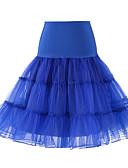 ราคาถูก ชุดชั้นในสำหรับงานแต่งงาน-งานแต่งงาน ซับใน เส้นใยสังเคราะห์ / Tulle ชายยาวระดับเข่า Tömör szín / Tutus & Skirts กับ