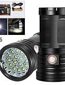 Χαμηλού Κόστους Ανδρικά Ρολόγια-XM16 Φακοί LED Αδιάβροχη 12800 lm LED LED 16 Εκτοξευτές Χειροκίνητο 3 τρόπος φωτισμού με καλώδιο USB Αδιάβροχη Επαγγελματικό Αντικραδασμικό Εύκολη μεταφορά Ανθεκτικό